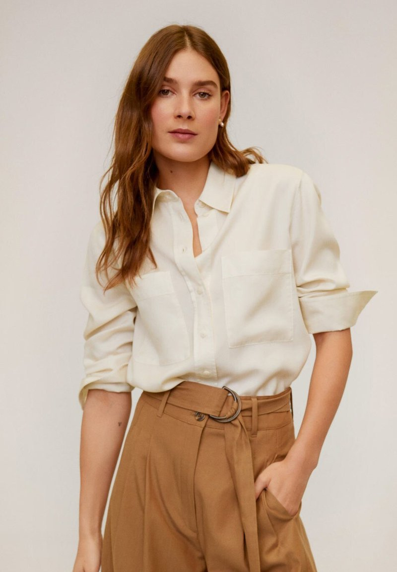 Mango - CLASSIC - Button-down blouse - ecru