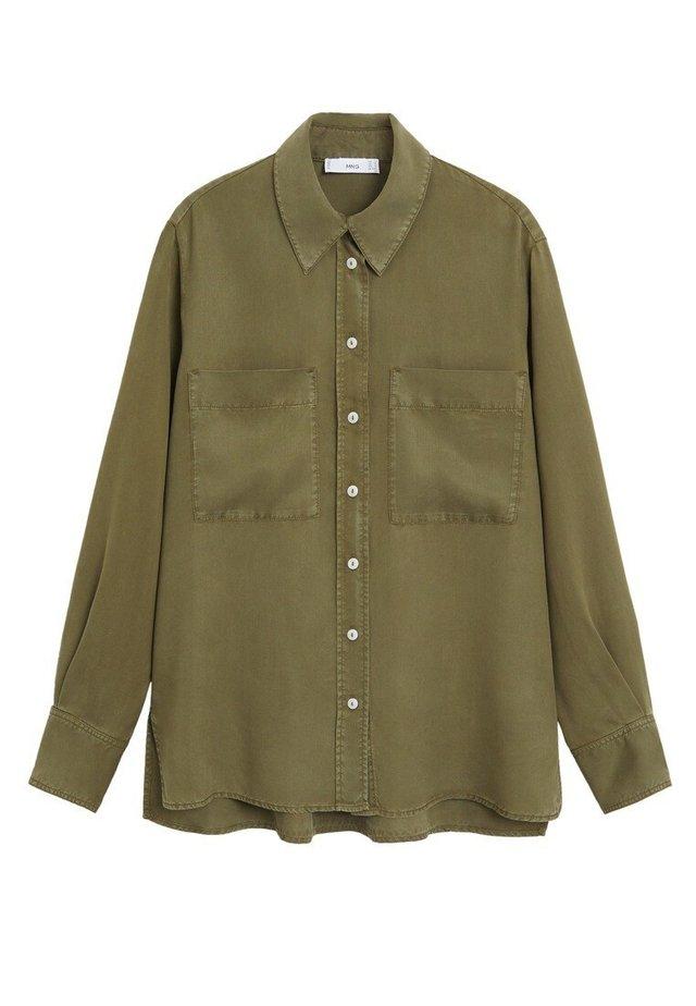 CLASSIC - Button-down blouse - khaki