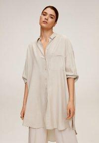 Mango - ANNETA - Button-down blouse - beige - 0
