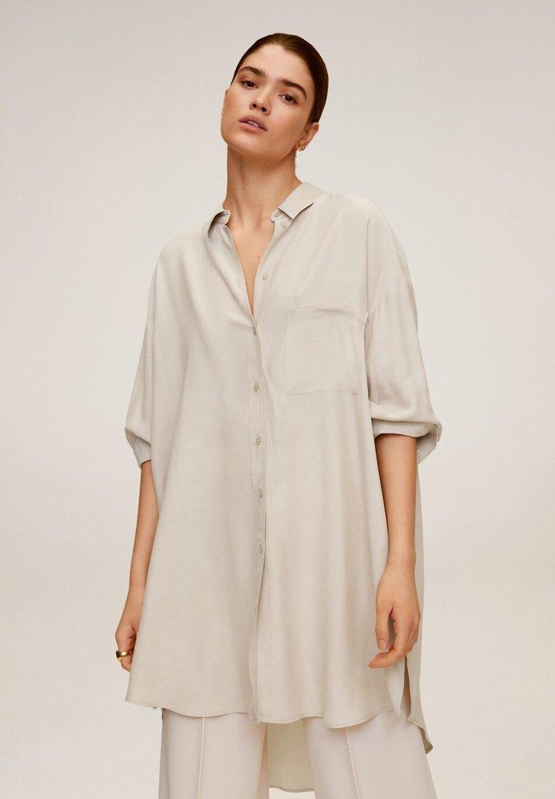 Mango - ANNETA - Button-down blouse - beige