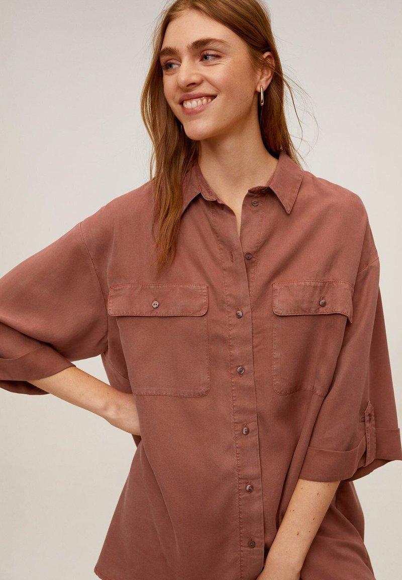 Mango - TURNER - Button-down blouse - rosa