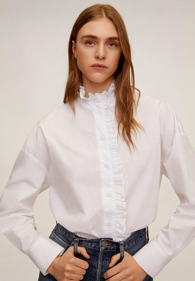 BENNET - Button-down blouse - cremeweiß
