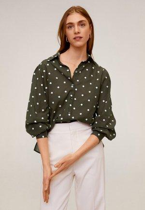 TOPU - Button-down blouse - khaki