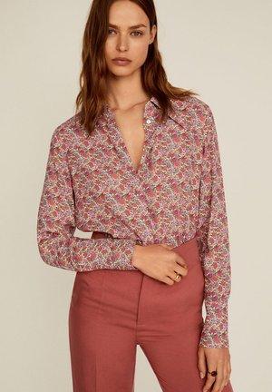 VENICE - Button-down blouse - fuchsia