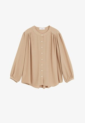 VERA - Button-down blouse - mittelbraun