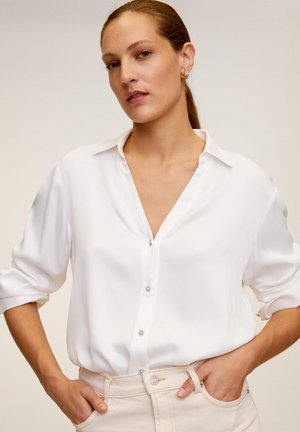 BASICS-A - Button-down blouse - cremeweiß