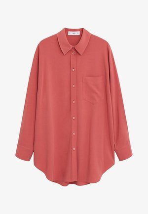 BEST - Button-down blouse - korallrot
