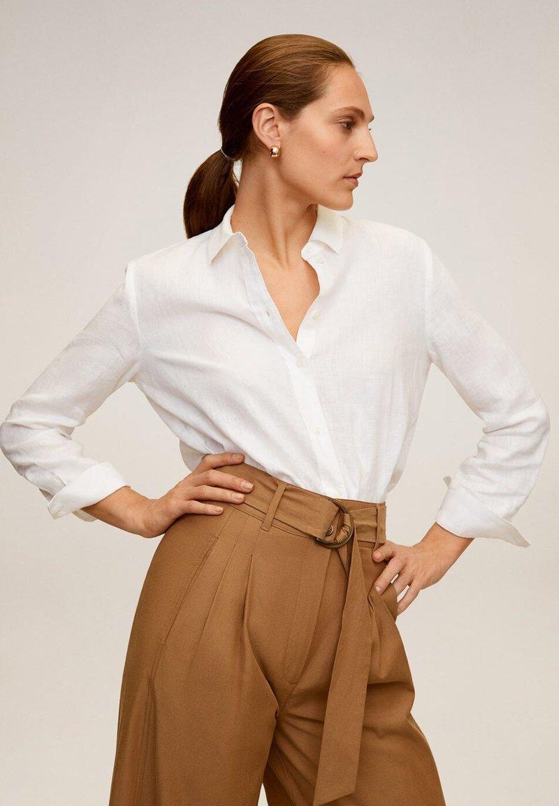 Mango - LINO - Button-down blouse - cremeweiß