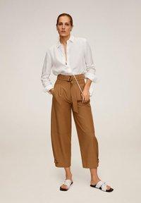 Mango - LINO - Button-down blouse - cremeweiß - 1