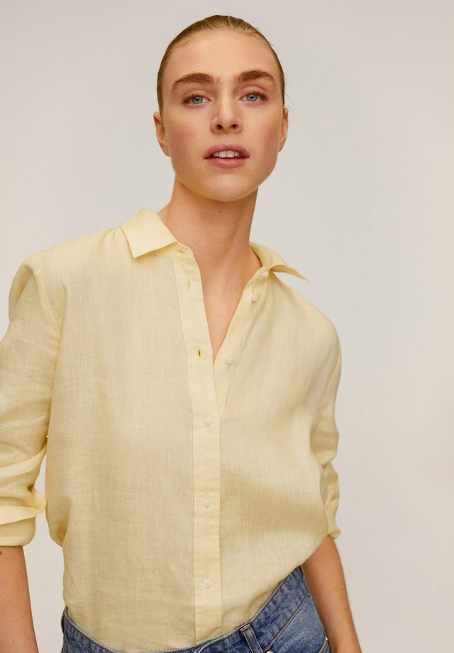 LINO - Button-down blouse - geel