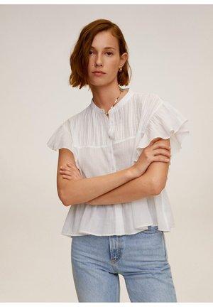 ruchesmouwen - Koszula - gebroken wit