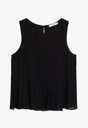 PLISSIERTE - Bluse - schwarz