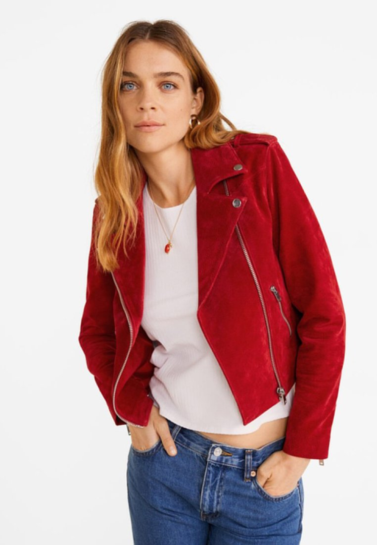 Mango - TEXAS - Lederjacke - red
