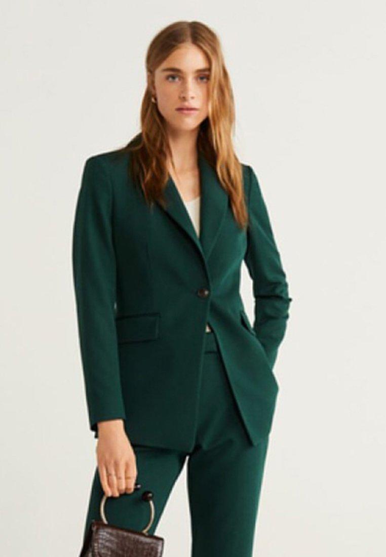 Mango OFFICE - Cappotto corto dark green