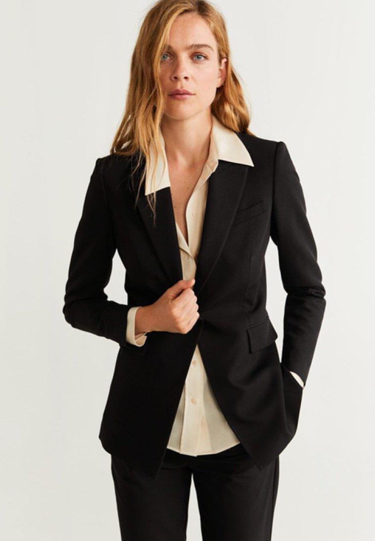 Mango - OFFICE - Short coat - black