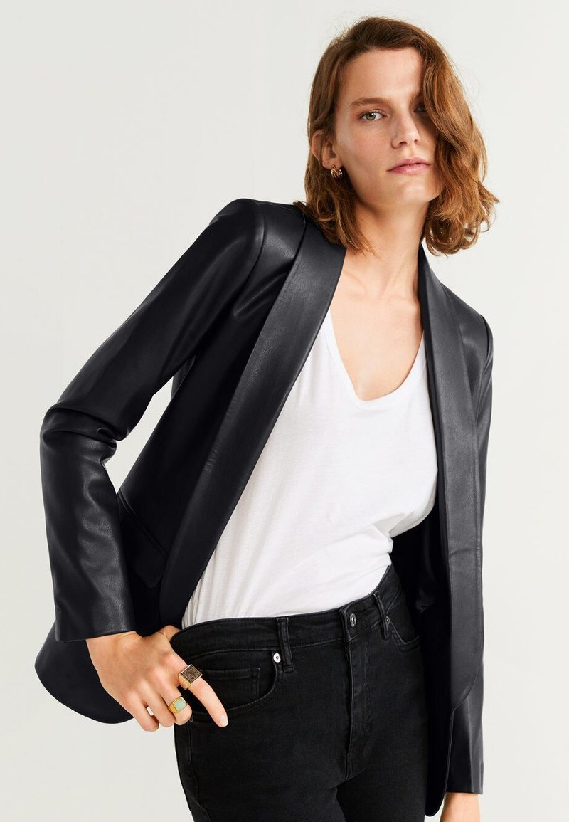 Mango - Giacca in similpelle - black