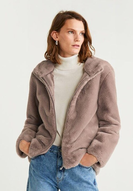 Mango - DUE - Winterjacke - beige