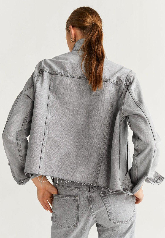 Mango GREY - Veste en jean denim grey