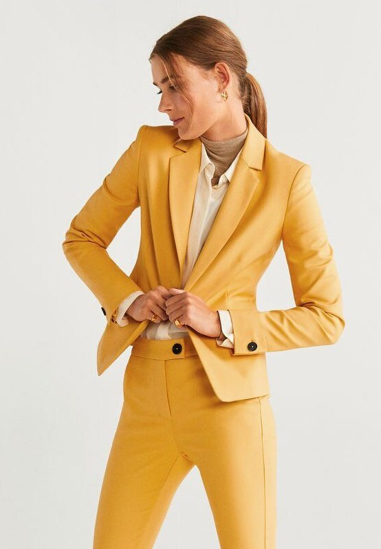 Mango - COFI - Blazer - mustard yellow