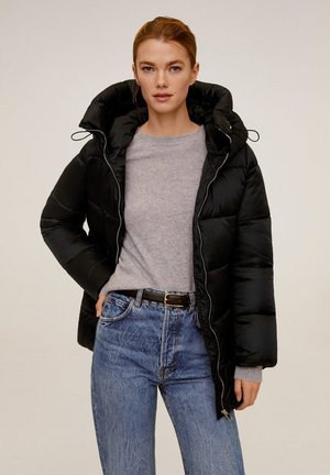 STEPP ANORAK MIT KAPUZE - Winter coat - black