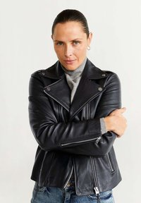 Mango - PERFECT - Leather jacket - black - 0