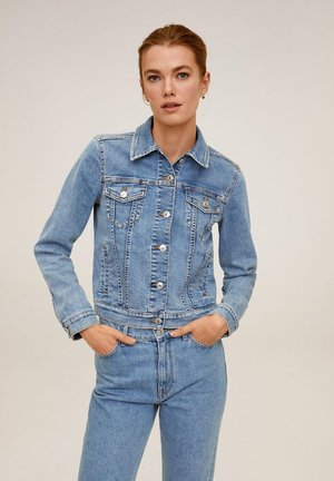 VICKY - Denim jacket - mittelblau