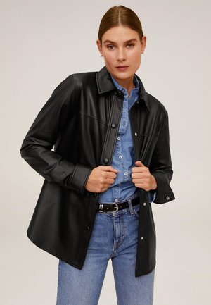 NIL - Leather jacket - schwarz