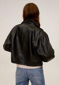 Mango - DANERIS - Leather jacket - schwarz - 2