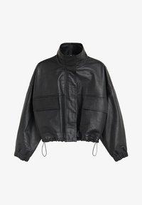 Mango - DANERIS - Leather jacket - schwarz - 7