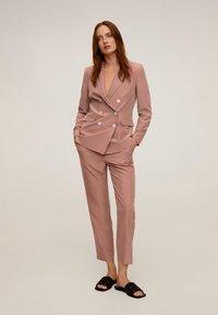 Mango - TEMPO - Veste de costume - rosa - 1
