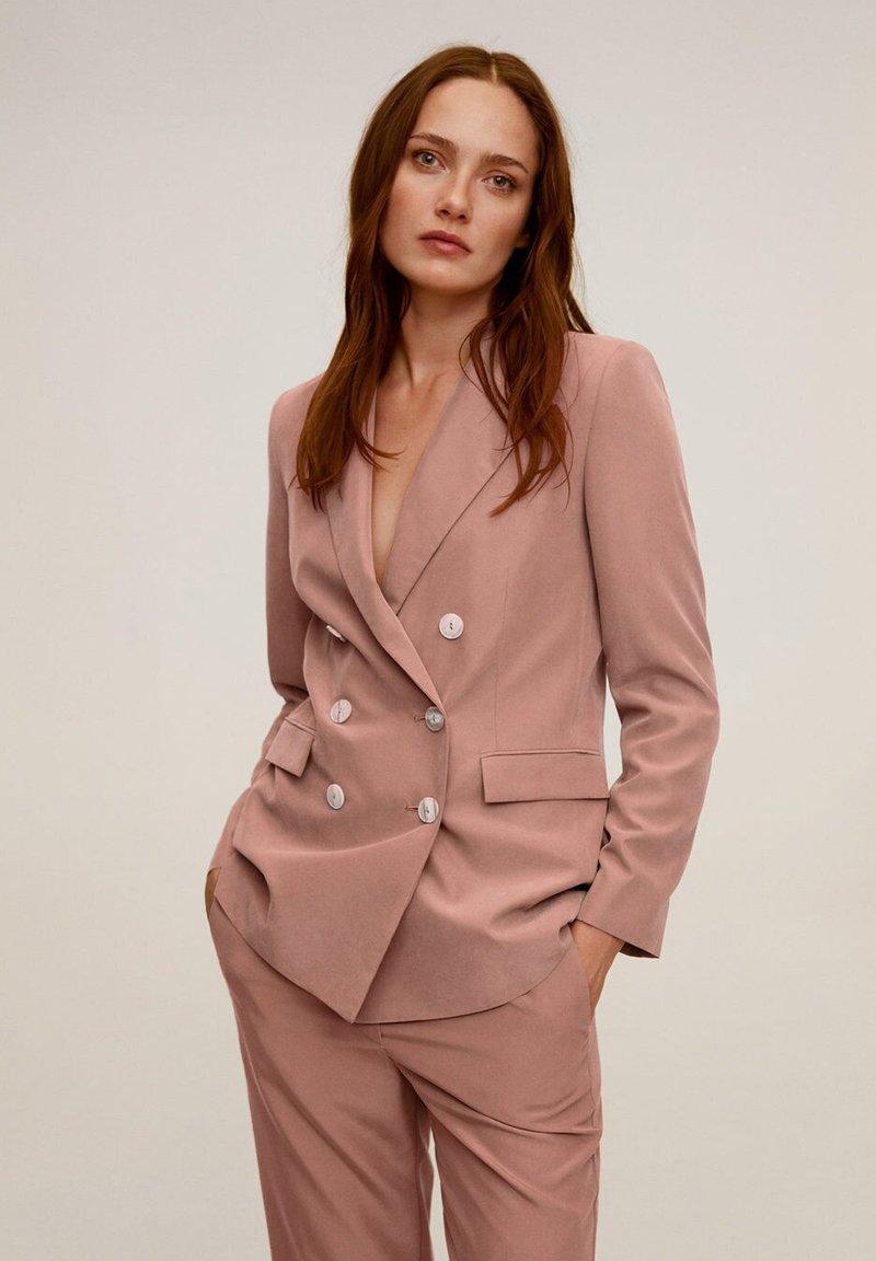 Mango - TEMPO - Veste de costume - rosa
