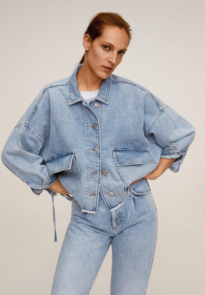 Mango - EDITED - Denim jacket - mittelblau