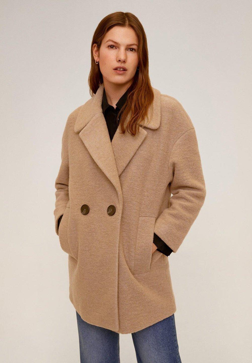 Mango LAURIS-N - Krótki płaszcz - beige