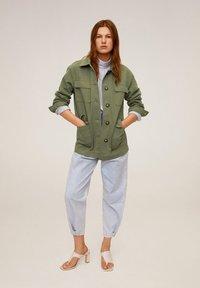 Mango - MARGOT - Summer jacket - khaki - 1