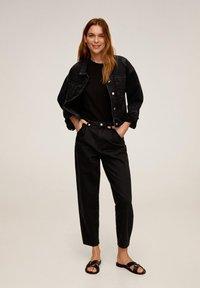 Mango - FIONA - Veste en jean - black denim - 1