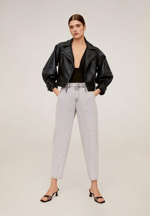 MATI - Leather jacket - schwarz