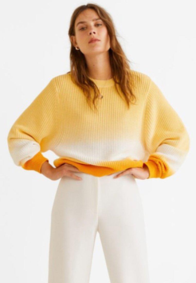 Mango - DEGRADE - Strickpullover - yellow