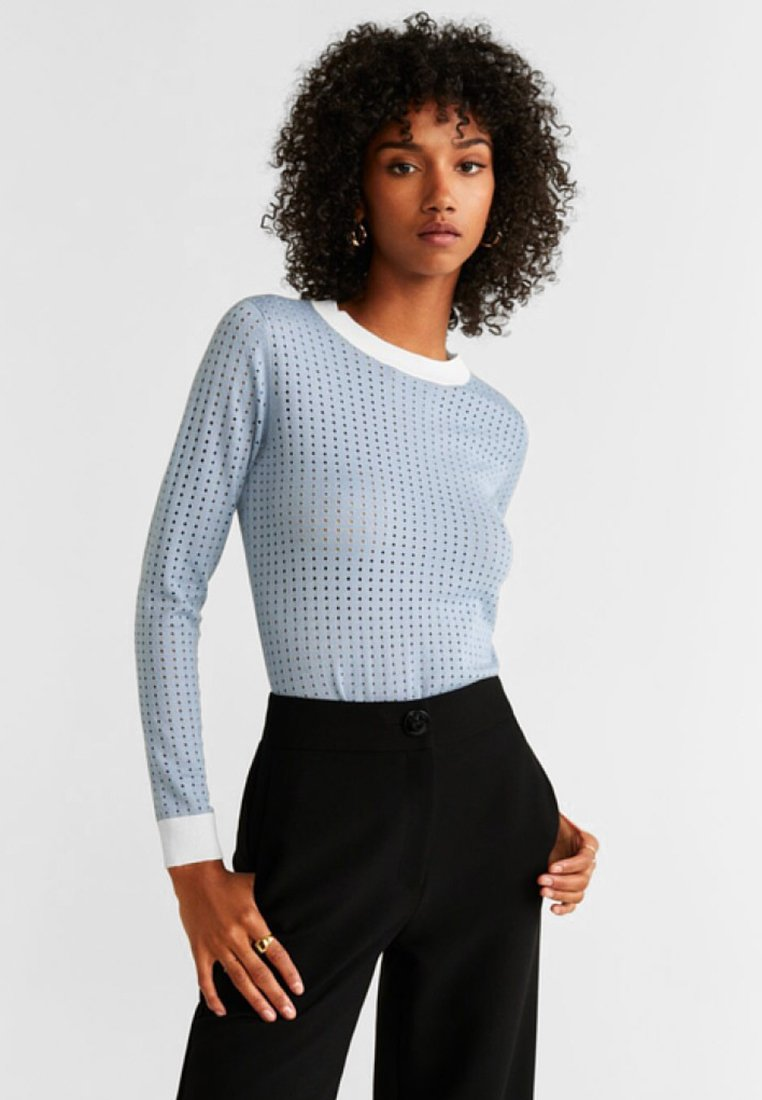 Mango - STREET - Strickpullover - light blue