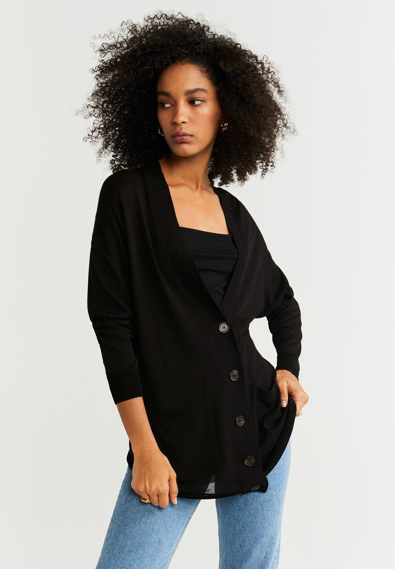 Mango - DAENA - Strickjacke - black