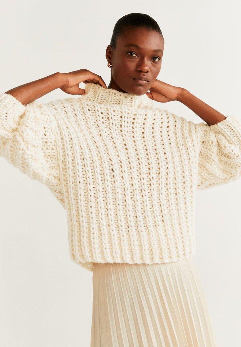 Mango - HANDMADE - Sweter - beige