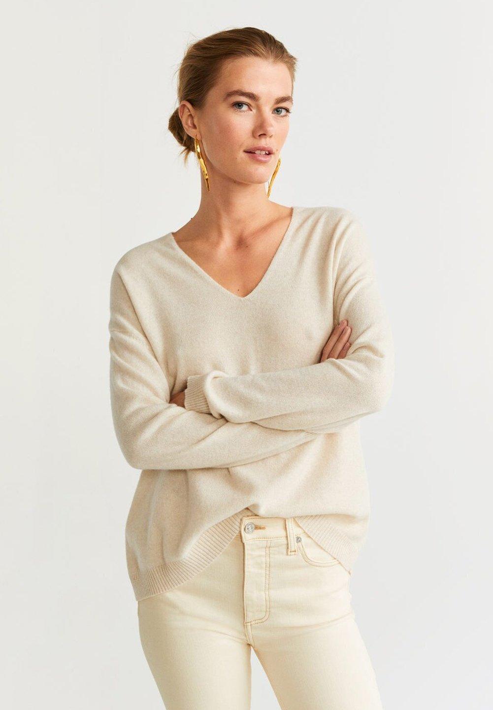 Mango CASHMERE- Pullover light grey