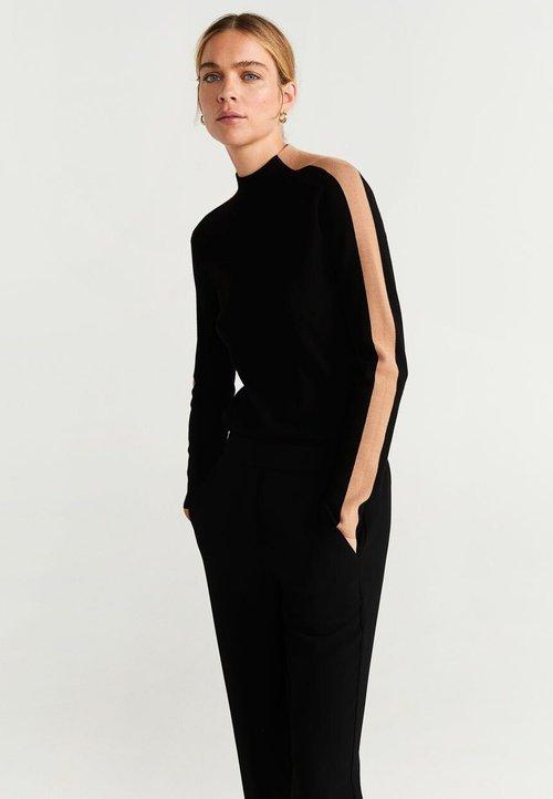 Mango OLIMPIA - Sweter - black Odzież Damska PECR-NH5 szyk