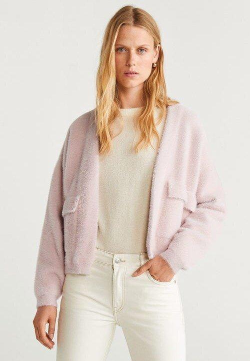 Mango - BLUSH - Cardigan - pink