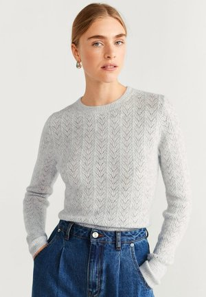 FLORITA - Jumper - mottled light grey