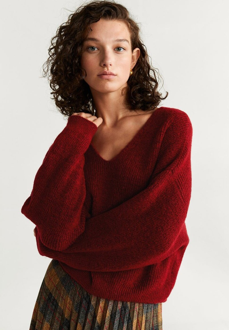 Mango - PICKY - Pullover - red