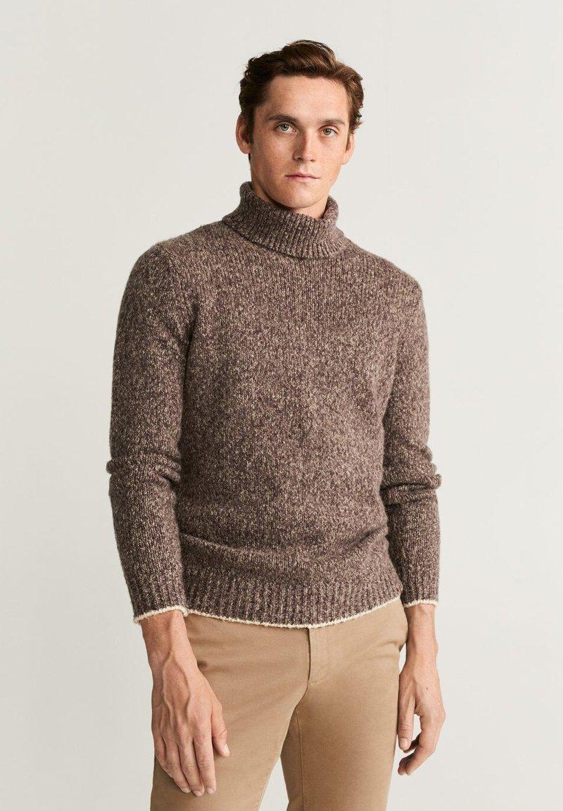 Mango - FLAVIA - Stickad tröja - brown
