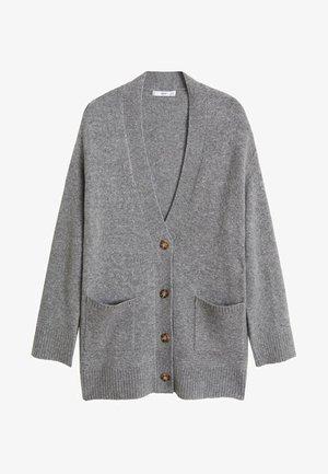 Cardigan - Mottled medium grey
