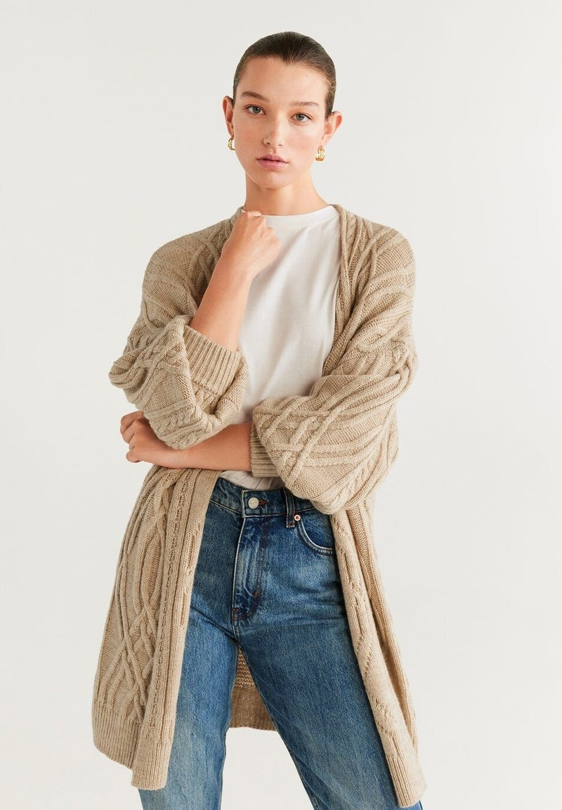 Mango - TRENZOTE - Cardigan - light grey/pastel grey