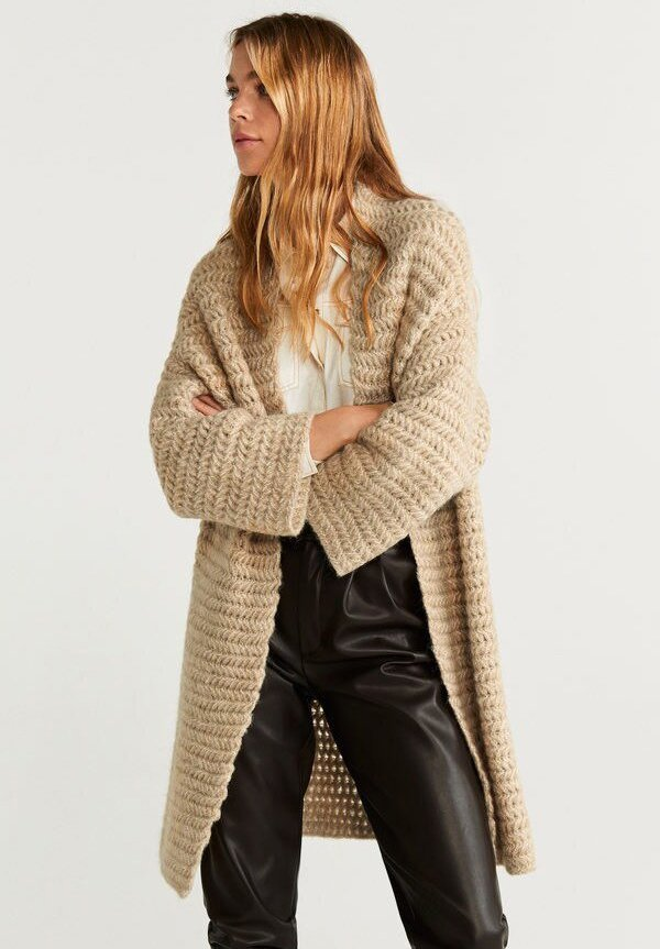 Mango - NEST - Cardigan - medium brown