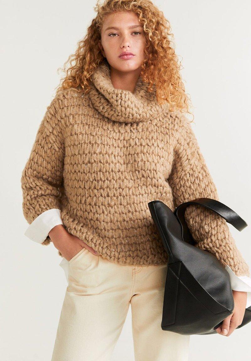 Mango - NEST - Sweter - medium brown